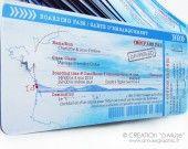 """100 faire-part """"ticket d'avion"""" + ses cartons repas intégrés : Faire-part par a-muse sur ALittleMarket"""