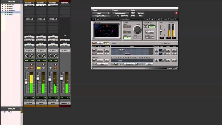 Using Waves SuperTap for Delay Effects on a Lead Synth