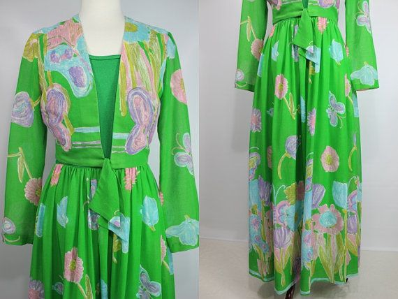 This beautiful set would be perfect to wear to a summer wedding, especially if you were a bridesmaid! It is labeled a size 12 by Miss Elliette, but wears more like a modern size 8. It is in excellent vintage condition. Bolero and skirt are made of a lovely flowy cotton and the top of the dress is a stretch poly material.  Dress:  Bust: 36 Waist: 28 Hips: 40 Shoulders-to-waist: 16.5 Skirt Length: 42.5 Total Length: 56.5  Bolero:  Bust: 36 Shoulders: 15 Sleeves: 23.5 Length: 17   PLEASE…