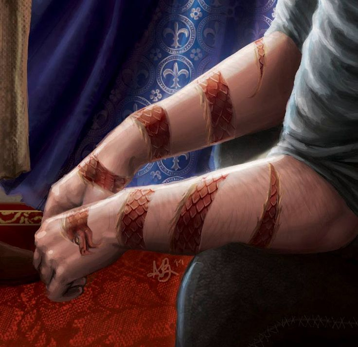 "wot-tidbits: ""Close-up of the dragon tattoos by Ariel Burgess ""..the dragon tattoos are described as wrapping around his arms. They shimmer like actual scales and not like a common tattoo, they do not..."