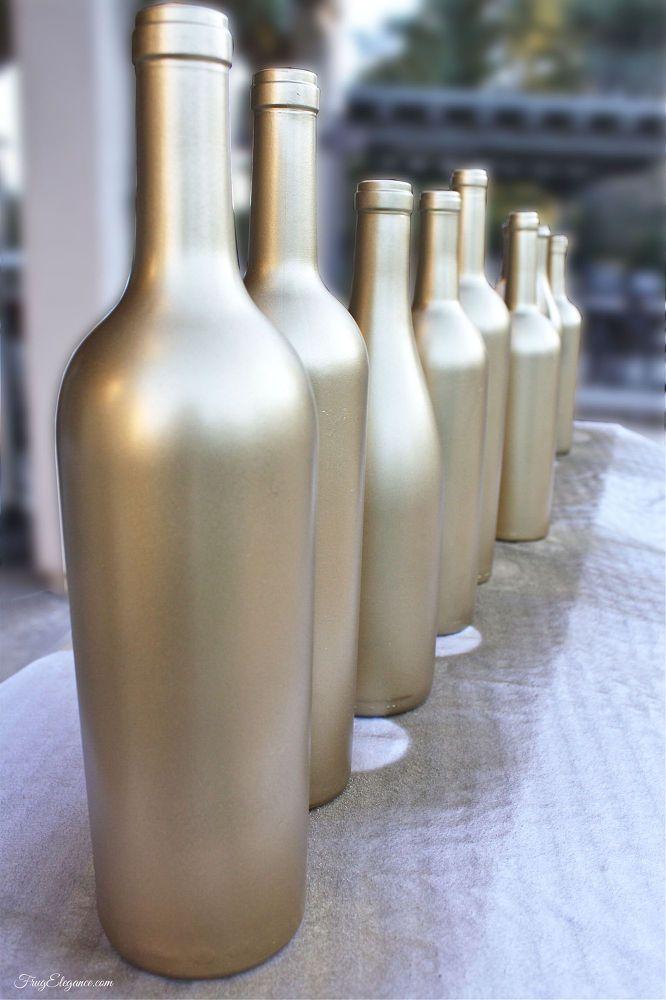 52 best vintage frameless mirrors images on pinterest for Empty wine bottles