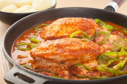 Thisrecipe is a modern version of the classical Hungarian chicken paprika dish.