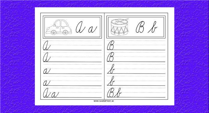 Učíme sa písať písané a tlačené písmenká - Aktivity pre deti, pracovné listy…