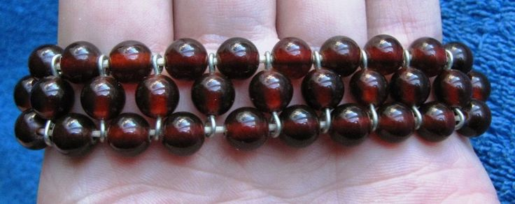 Jewelry Natural Baltic Amber 19 gr bracelet round bead red Butterscotch 老琥珀 USSR #Handmade