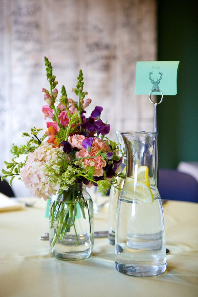 Rustic wedding centerpieces snapdragon studio