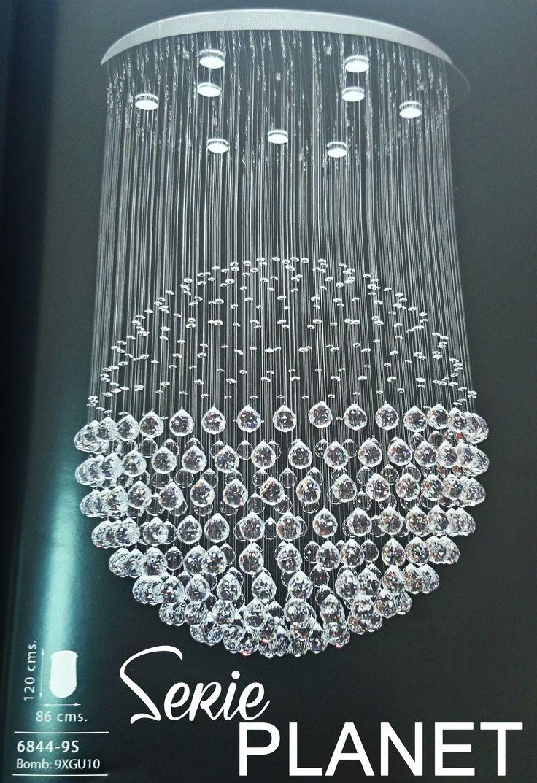 Lampara colgante cristal serie planet catalogo de iluminacion ofertas novedades promociones - Catalogo de iluminacion interior ...