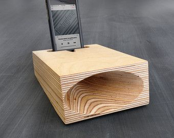 Timbrefone™ Strata Walnut Phone Amplifier // Acoustic Wood