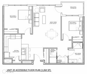 25 best wheelchair accessible images on pinterest for Accessible bathroom floor plans