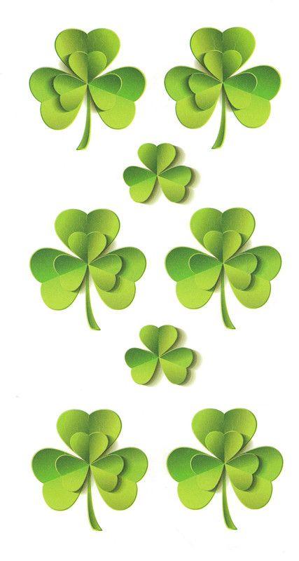 Waterproof Temporary Fake Tattoo Stickers Cute Green Lucky Clover Grass 3D Design Body Art Make Up Tools #Affiliate