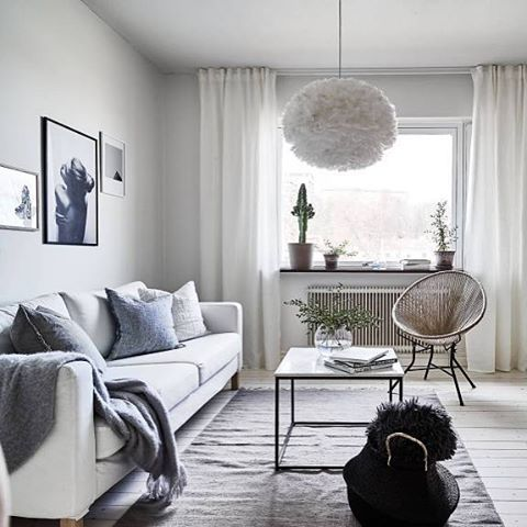 Vita Eos lamp looks perfect in this beautiful living room - Is To Me - Stadshem