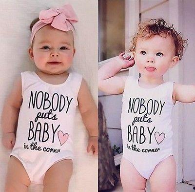 Cotton Newborn Baby Girls Clothes Bodysuit Romper Jumpsuit Playsuit Outfits