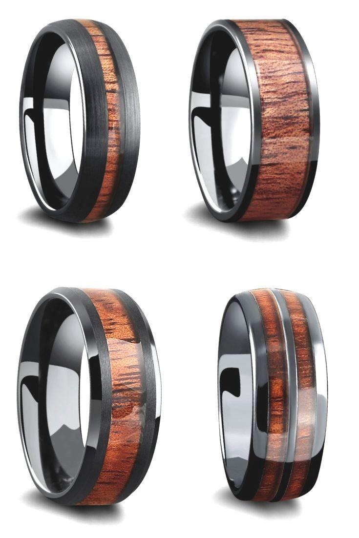 Bands Manly Rings Accumulation Manly Bands タングステンカーバイドまたはセラミックの外側で作られたメンズダークカラーのウッドマリッジリング Wooden Wedding Ring Wooden Wedding Bands Wood Wedding Ring