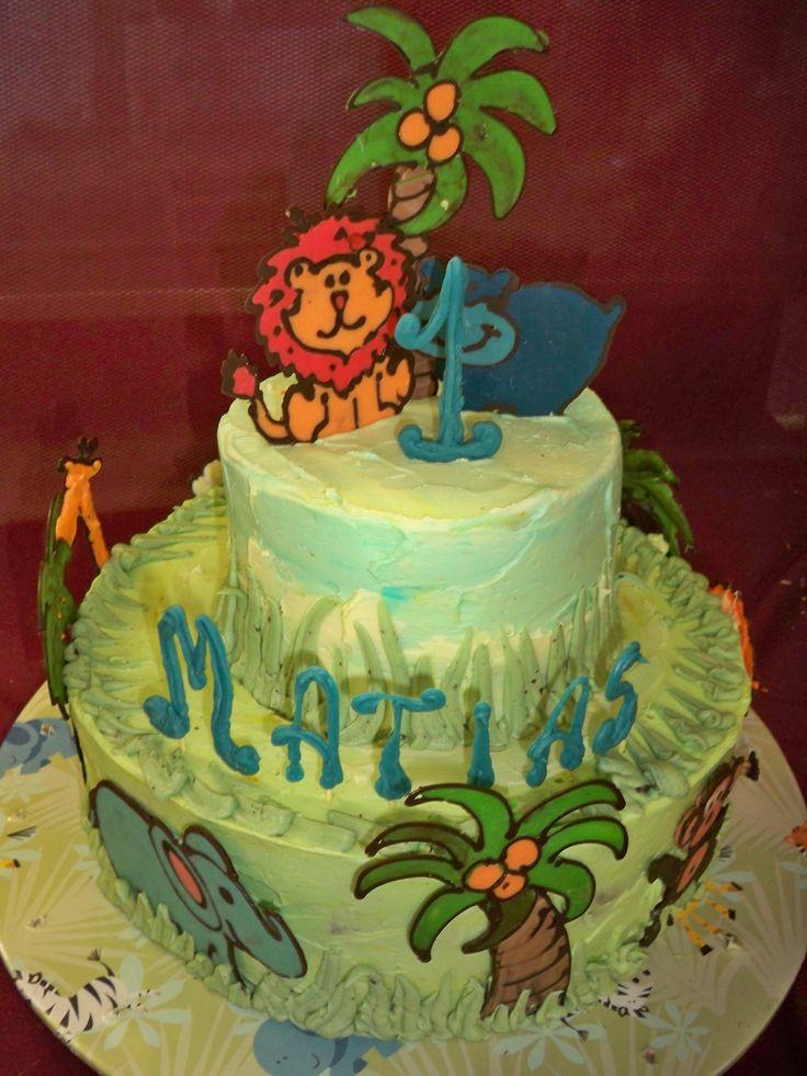 Jungle birthday cake http://www.elisabethscakes.com.au