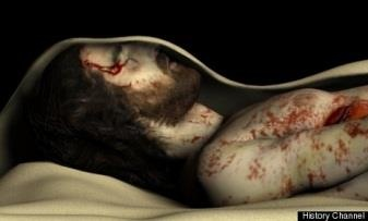 Computer model of the Man in the Holy Shroud of Turin in His tomb, created by Ray and Maria Downing as the Real Face of Jesus for the History Channel.