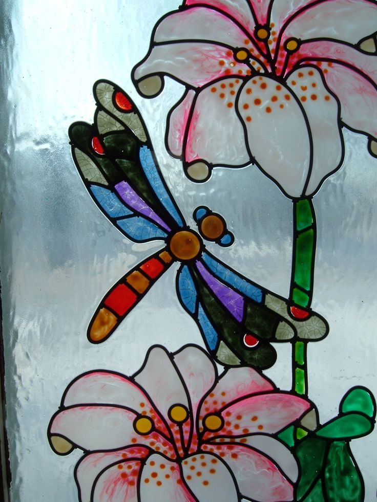 Painted stained glass window