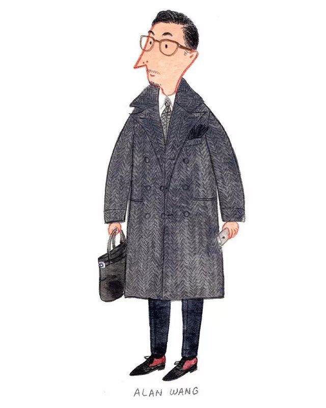 """The way you dress is simply how you express yourself"" - Alan Wang @supremealan @briobeijing #pittiuomo #mensfashion #fashionillustration"