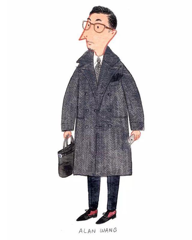 """""""The way you dress is simply how you express yourself"""" - Alan Wang @supremealan @briobeijing #pittiuomo #mensfashion #fashionillustration"""