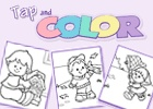Tap and Color (You hit any key on the keyboard and the color fills in on the picture). This site has GREAT things to do with kids!