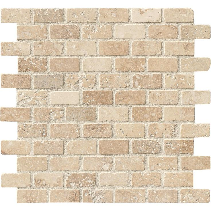 Chiaro Tile Backsplash: MSI Chiaro Brick 12 In. X 12 In. X 10mm Tumbled Travertine