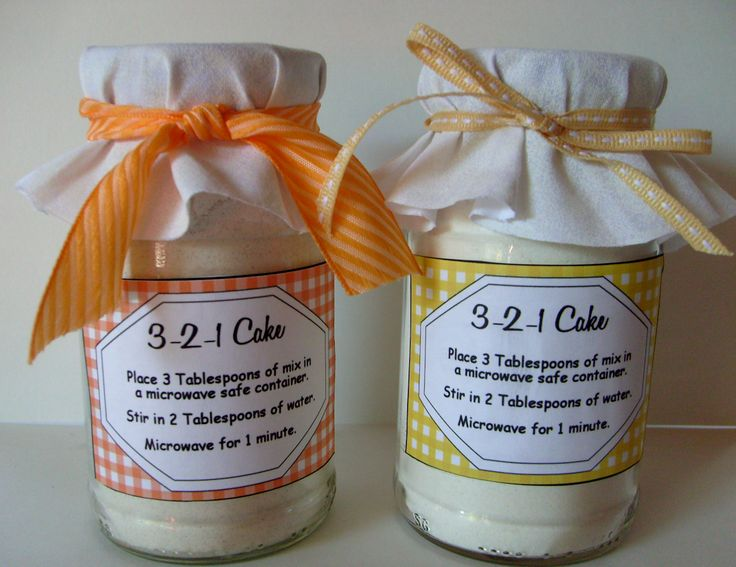 3 2 1 Cake Gift Ideas ~ I just made this in strawberry. It works great and is low in fat. :-)
