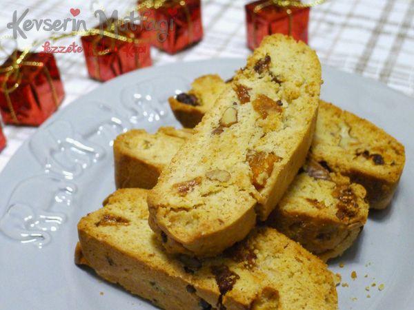 Kuruyemişli Biscotti Tarifi - Kevser'in Mutfağı - Yemek Tarifleri