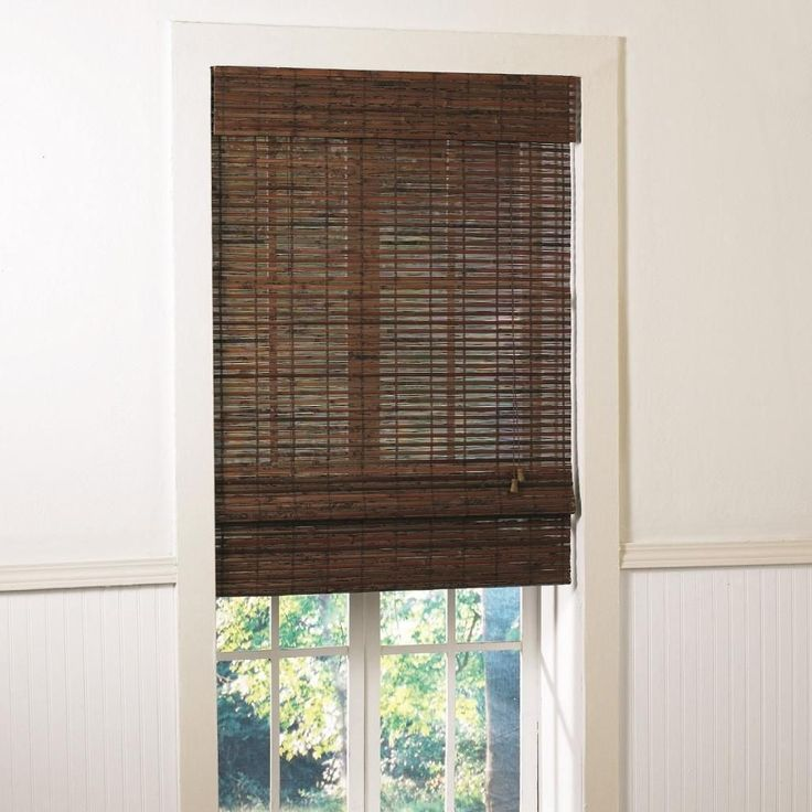 The Santa Cruz collection uses delicate strips of natural bamboo slats and matchsticks woven together to bring a tropical elegance into your home. This shade provides the perfect blend of light and privacy and energy-efficient insulation.