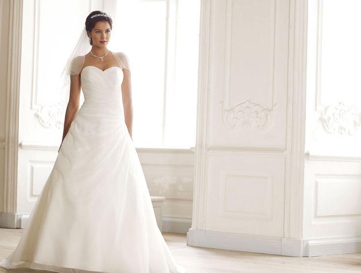 LILLY brudekjole - draperet organza