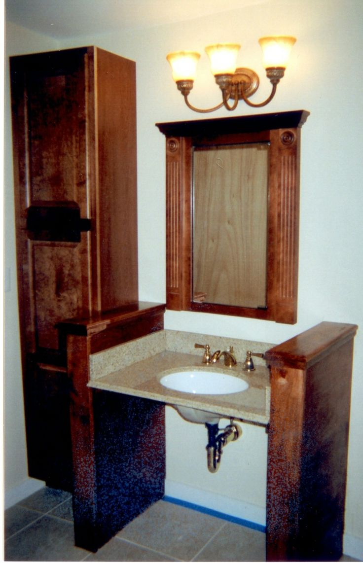 Best Images About Cool Wheelchair Stuff On Pinterest -  bathroom remodel for handicapped people