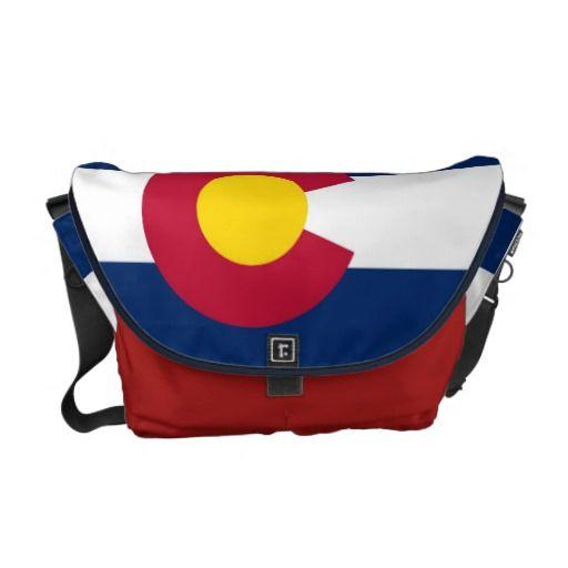Colorado State Flag Rickshaw Messenger Bag