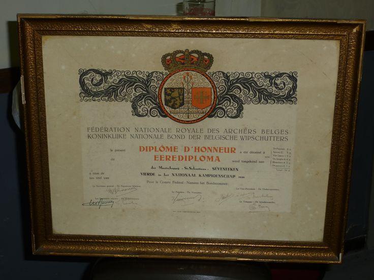 Zeveneken Sint Sebastiaan, 1936 VIERDE in het NATIONAAL KAMPIOENSCHAP