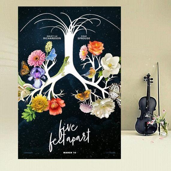2019 Five Feet Apart Movie Poster Silk Art Print 12x18