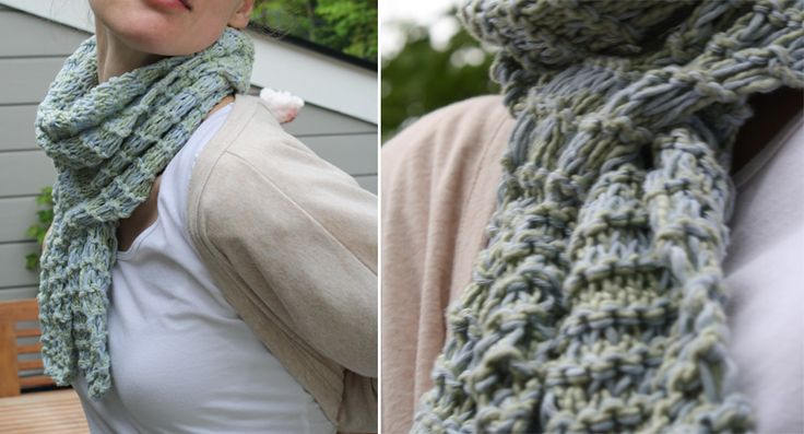 Knitting Pattern For Slip Through Scarf : 13 best images about Knit Patterns on Pinterest Free pattern, Green scarves...