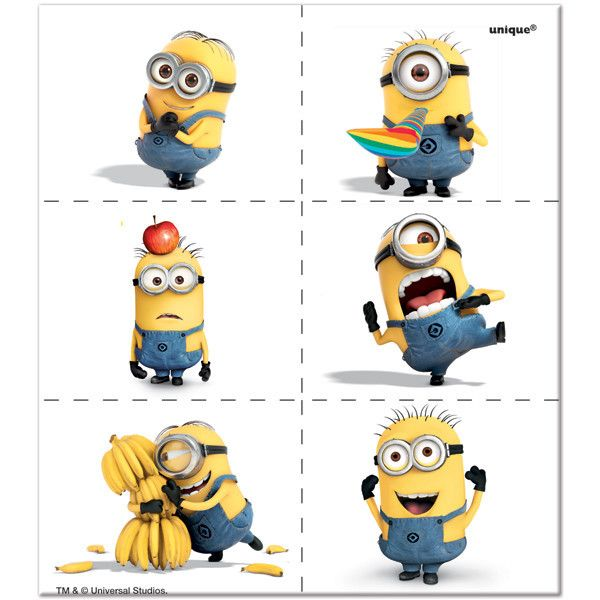 Despicable Me 2 Temporary Tattoos, 4 sheets | 24 ct