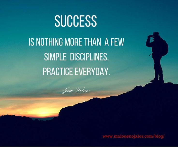 A simple action & discipline can reach our destination.#success