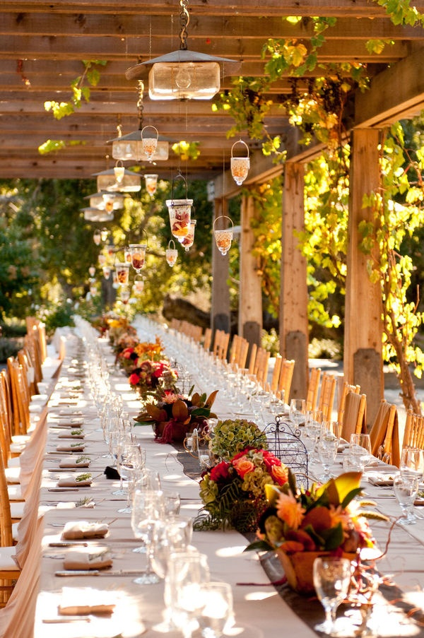 Holman Ranch Wedding By AJPhotographer + Soiree By Simone. Long TablesFall  TableOutdoor ...