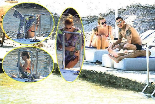 Podyumların Cesur Mankeni, Beach Clubta Kameralardan Köşe Bucak Kaçtı #Magazin