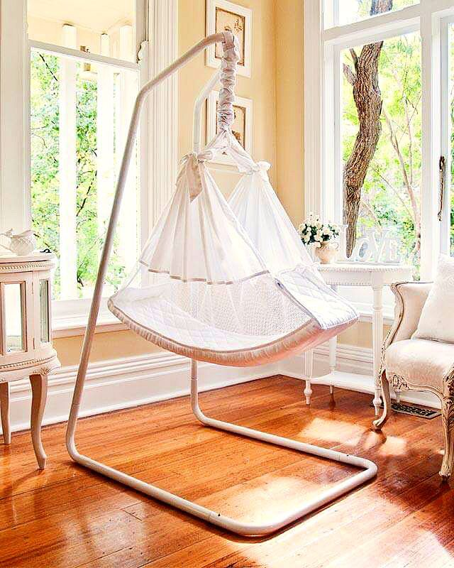 BABY HAMMOCKS AMBY SWING. this gorgeous hammock is specially designed to replicate the comfort and security of the womb. The natural movement of this swing helps sooth and rock even the most reluctant sleeper. With the adjustable sling to a more incline position you can create a colic and reflux free bed. A gorgeous newborn sling that is 100% cotton. We are so happy to be the stockist of such an amazing brand www.byronbabyshop.com.au #colic #baby #organic #organiccotton #babyswing #babysleep…