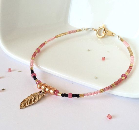 Dainty Beaded Bracelet Friendship Bracelet by AprilHyltonDesigns