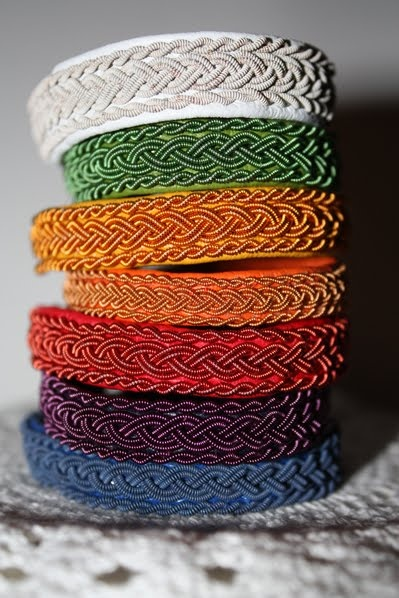 sami tin thread bracelets.