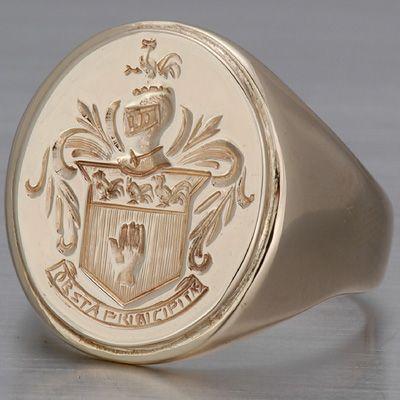 mens victorian ring   Victorian Men's Signet Ring