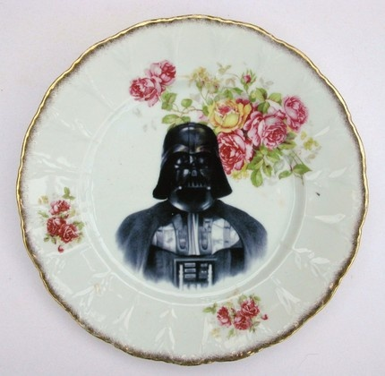 Altered plate by Angela Rossi via Etsy (would love to go to high tea and see this plate with a cucumber sandwich on it!)