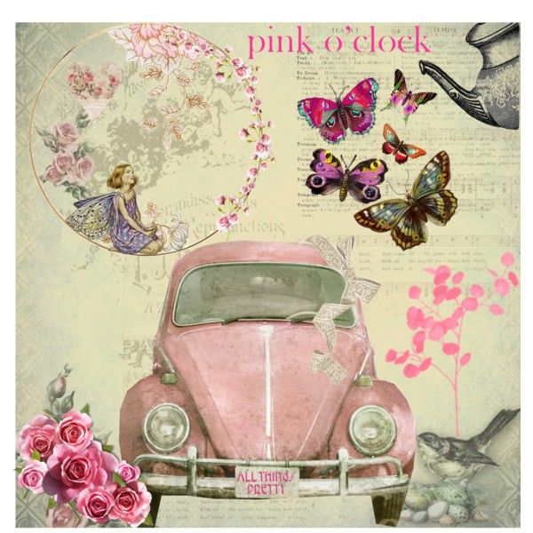 Pink o Clock by beth-walkingonsunshine, via Polyvore