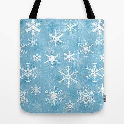 Snowflakes Tote Bag - Available Here: http://society6.com/rapplatt/Snowflakes-vyM_Bag#26=197