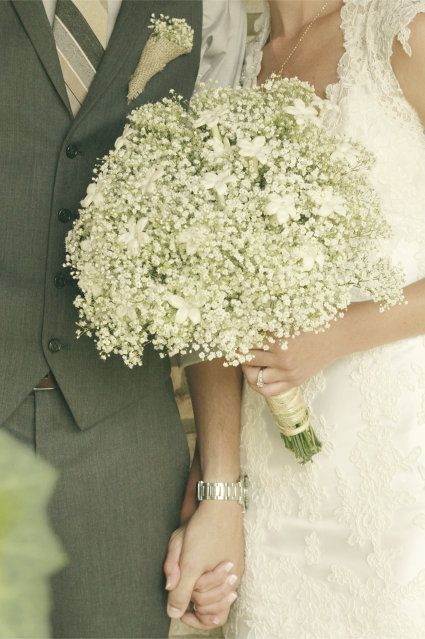 stunning babys breath bouquet---INEXPENSIVE and beautiful!!