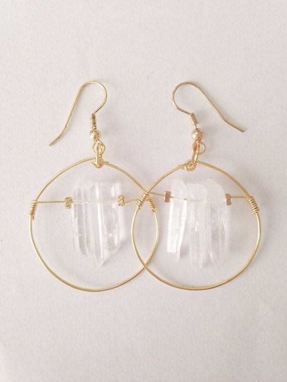 i love these raw crystal quartz earrings by azdouhi jewelry. giveaway  on…