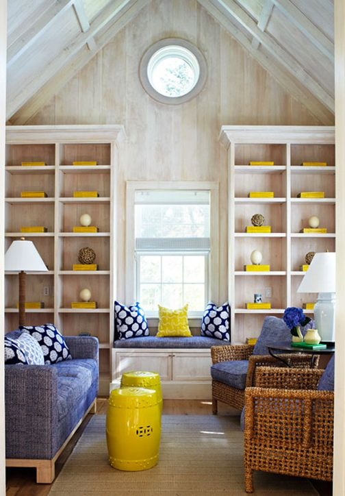 I Love These Bright Yellow Garden Stools For The Living Room. They A Bug  Multi Taskers And Add A Nice Pop Of Color To Echo The Yellow Magazines  Displayed On ...