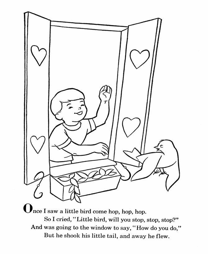 Bluebonkers Nursery Rhymes Coloring Page Sheets Once I Saw A