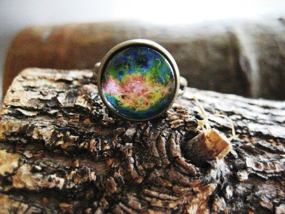 Venus Ring galaxy jewelry planet jewelry by UrbanTreasureDesign