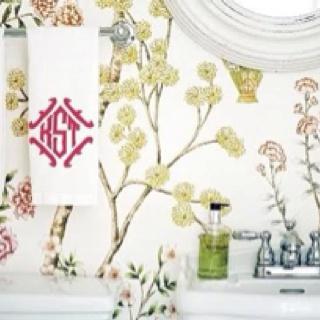 Monogrammed Hand TowelsPowder Room, Bedrooms Bathroom, Crete De, Family, Interiors Design, Nests Workshop, Monograms Hands, Hands Towels, Monograms Letterpresses Crest