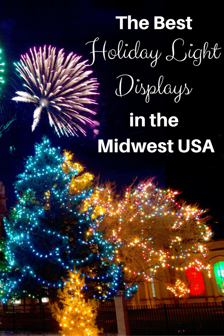 Love Christmas lights and decorations? Find out where to find the best holiday light displays all over the Midwest.